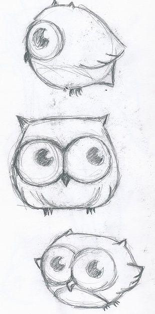 Now I know how to draw cute cartoon owls