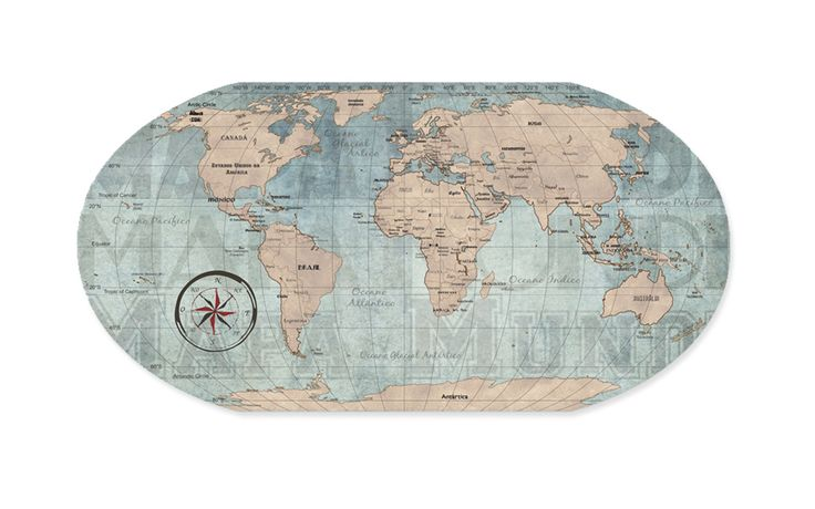 Mural mapa mundi vintage design de produto pinterest - Mapa mundi mural ...