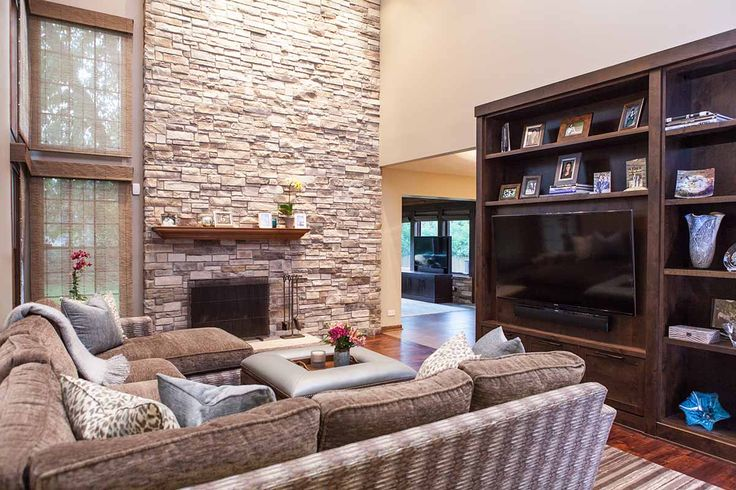 Luxury Entertainment Room - Buffalo Grove, Illinois - Michelle's Interiors