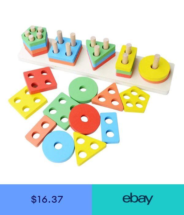 Revanak Wooden Educational Preschool Toddler Toys for 1 2 ...