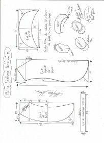 Esquema de modelagem de boina Italiana tamanho M.                              …