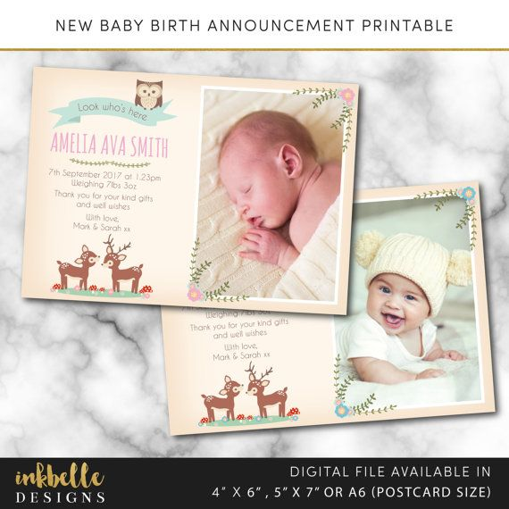 79 best Birth Announcements images – Diy Baby Announcement