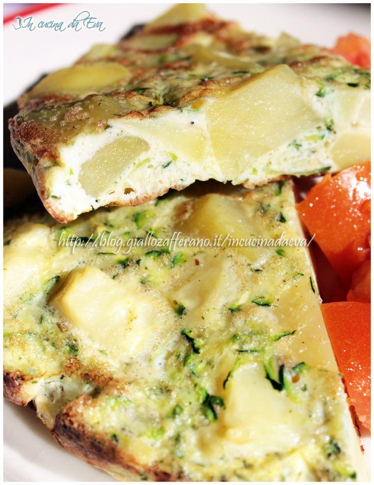 Frittata di patate e zucchine light