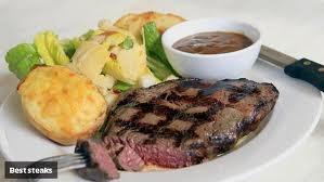 Graziers Angus Rump 400g, with house potato, ceaser salad and our traditional mushroom sauce.  #steak #brisbanesbeststeak #morrisonhotel #morrisons
