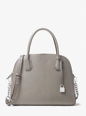 6b59dd597613 Mercer Large Leather Dome Satchel | Michael Kors #Handbagsmichaelkors
