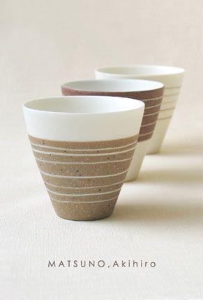 Matsuno Akihiro; Lines as surface decoration on clay