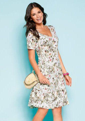 Volánové šaty s potiskem #ModinoCZ #fashion #flowers #dress #šaty #květiny #květinovývzor #móda