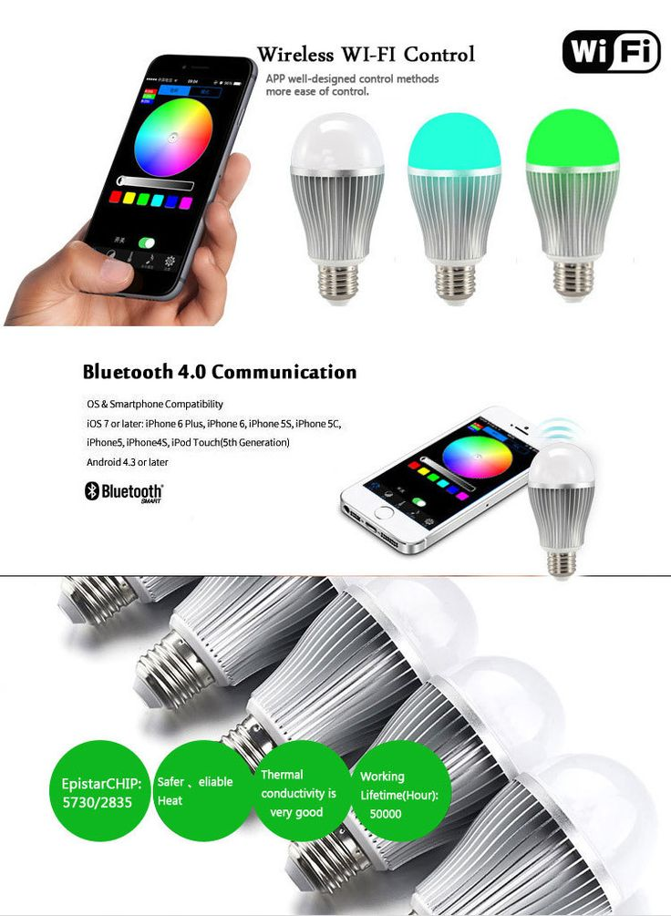 Buy New design 9w e27 dimmable smart wifi RGBW led bulb with phone control LED Residential Lighting on bdtdc.com