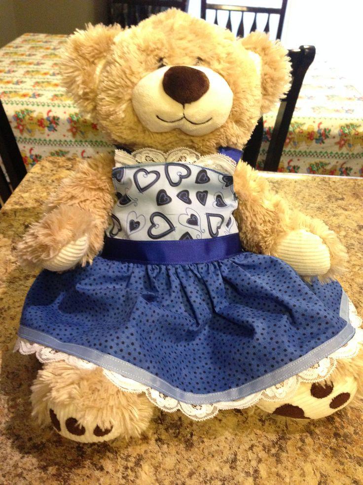 Bear/doll dress little reds needle & thread