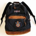画像: 90s USA製 JANSPORTジャンスポーツ パッチ付き 底革 リュックサック 黒