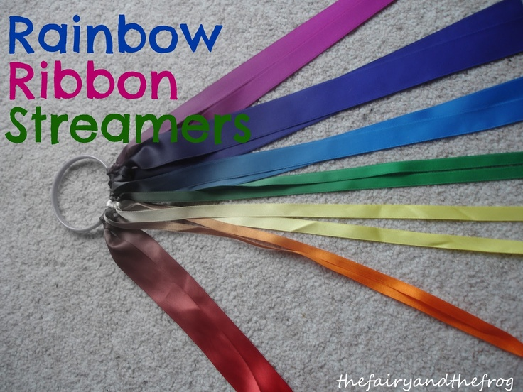 Rainbow Ribbon Streamers, great for St. Patrick's Day parade