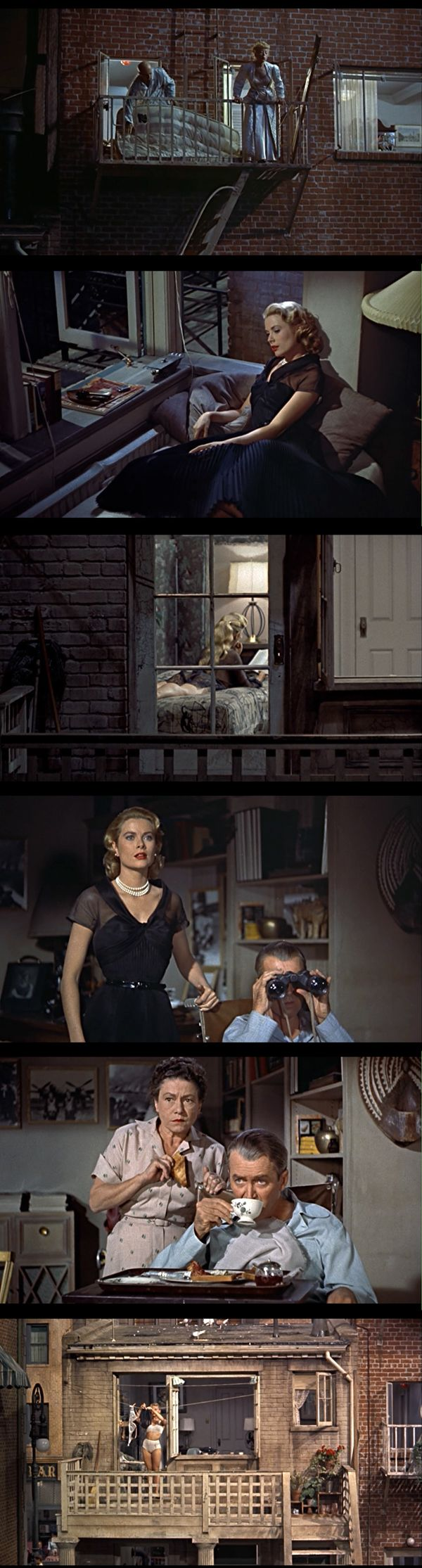 """More stills from """"Rear Window"""" -- Hitchcock. 1954."""