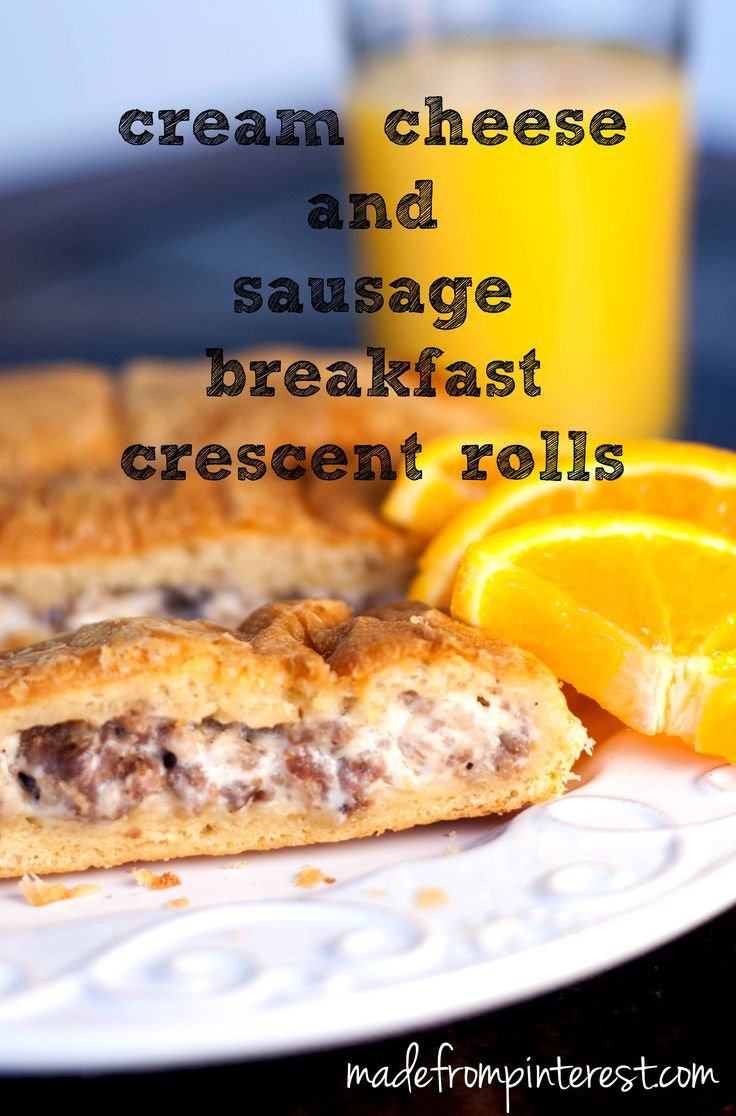 Cream Cheese and Sausage Breakfast Crescent Rolls. Breakfast comfort food at its best.