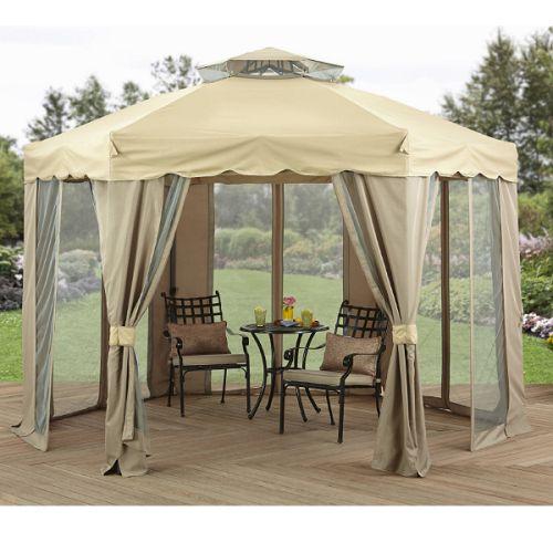 Steel-Gazebo-12x12-Hexagonal-Patio-Outdoor-Round-Canopy-Shelter-Garden-Pavilion