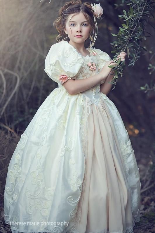 Sweet Whimsical Floral Flower Princess Dress Gown