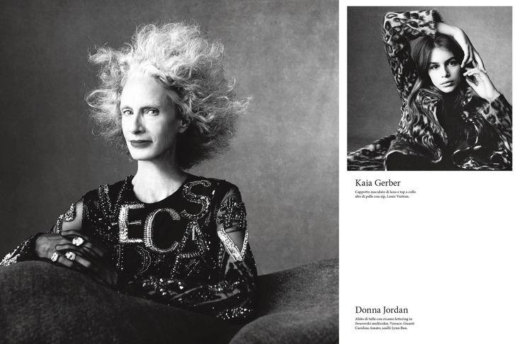 Kaia Gerber & Donna Jordan, photographed by Steve Meisel; Vogue Italia July 2015.