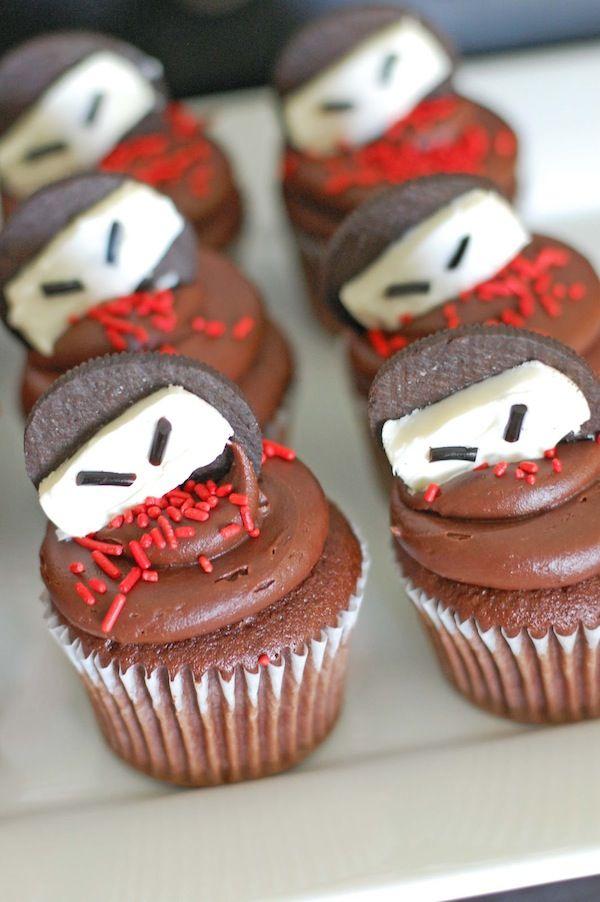 Ninja theme birthday partyBirthday Parties, Ninjas Cupcakes, Parties Ideas, Ninjas Parties, Parties Treats, Ninjas Birthday, Party Ideas, Oreo Cupcakes, Birthday Ideas
