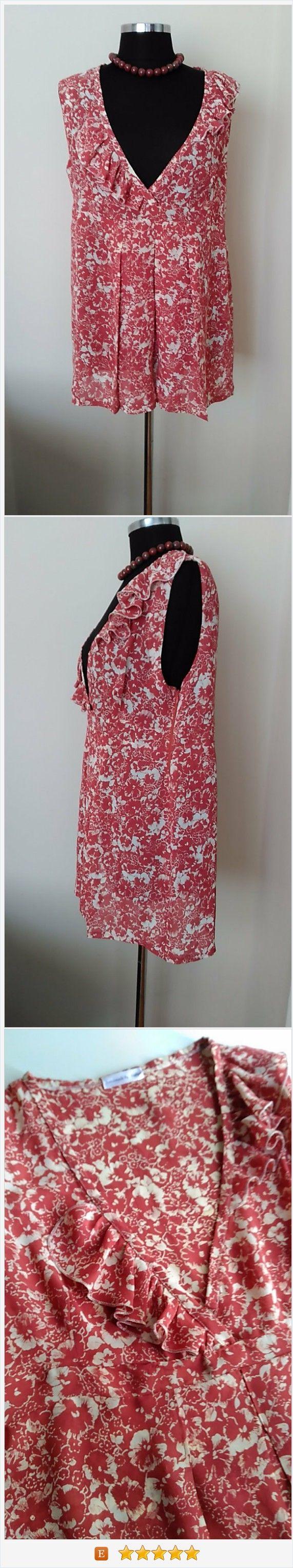 Plus size Clothing   Plus size Tunic     Maternity Tunic    Terra-Cotta&White Floral Print Top HandmadebyNadya https://www.etsy.com/listing/456830528/