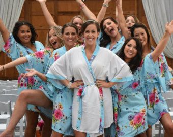 inexpensive bridesmaid gifts kimono robe bridal shower by ForBride