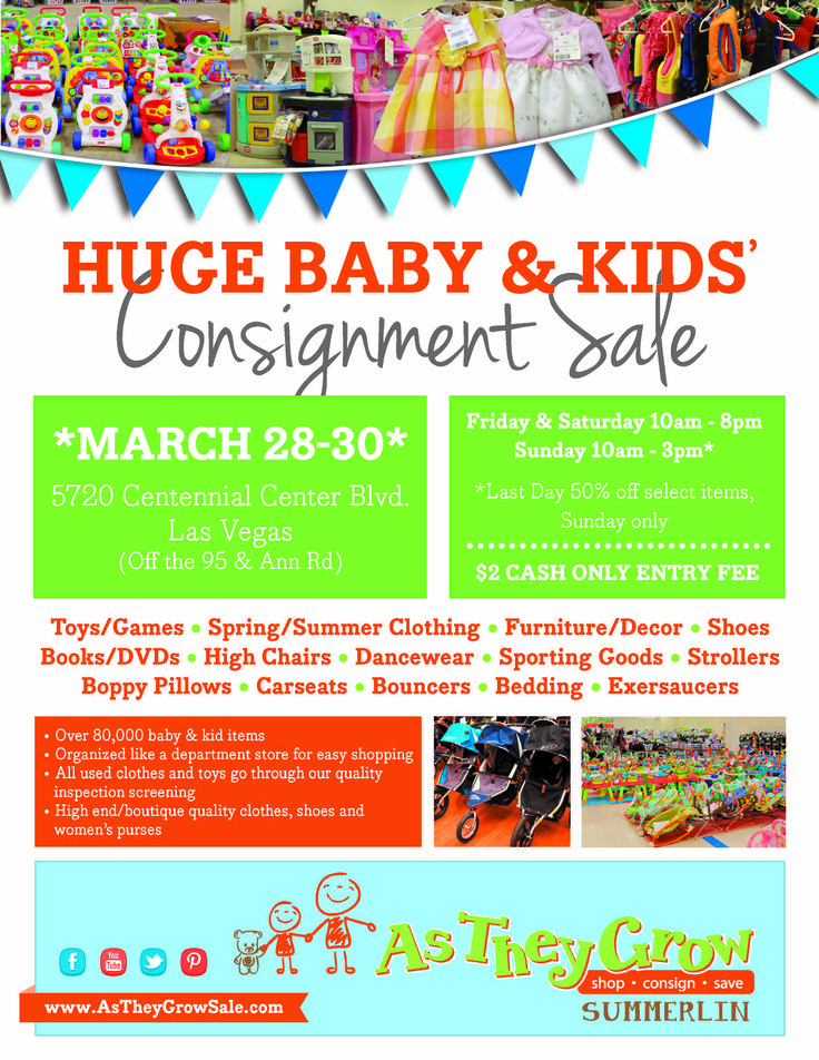 9 Best As They Grow Kids Consignment Sale Of Las Vegas Images On