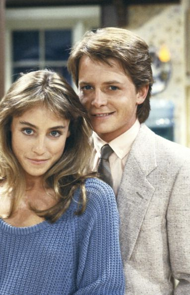 The Real Thing pt 1' Episode 1 Aired 9/26/85 Pictured Tracy Pollan as Ellen Reed Michael J Fox as Alex P Keaton