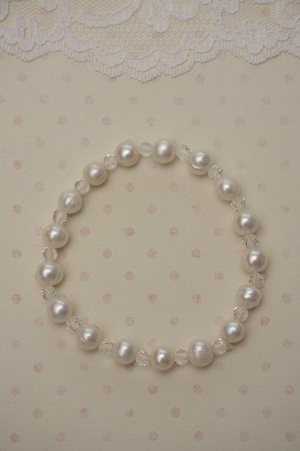 Fresh Water Pearl and Crystal Bracelet