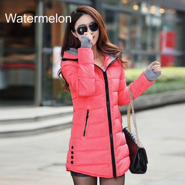 Warm Winter Jackets Women Fashion Down Cotton Parkas Casual Hooded Long Coat Thickening Parka Zipper Cotton Slim Like and share if you think it`s fantastic! Visit us