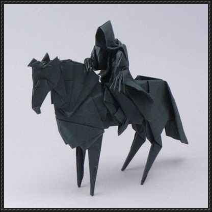 Lord of the Rings - Nazgul Origami Tutorial and Template | PaperCraftSquare.com