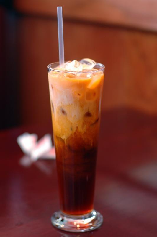 Thai Iced Tea easy DIY. Tai tea, cream, condensed milk, sugar, water, vanilla.