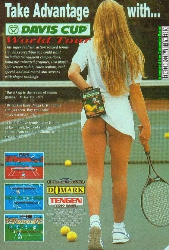 Davis Cup Tennis Megadrive ad