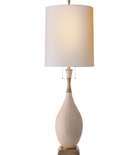 Visual Comfort Thomas OBrien Tamaso 2 Light Decorative Table Lamp in Tea Stain Porcelain TOB3711TS-NP #visualcomfort #lightingnewyork #lighting