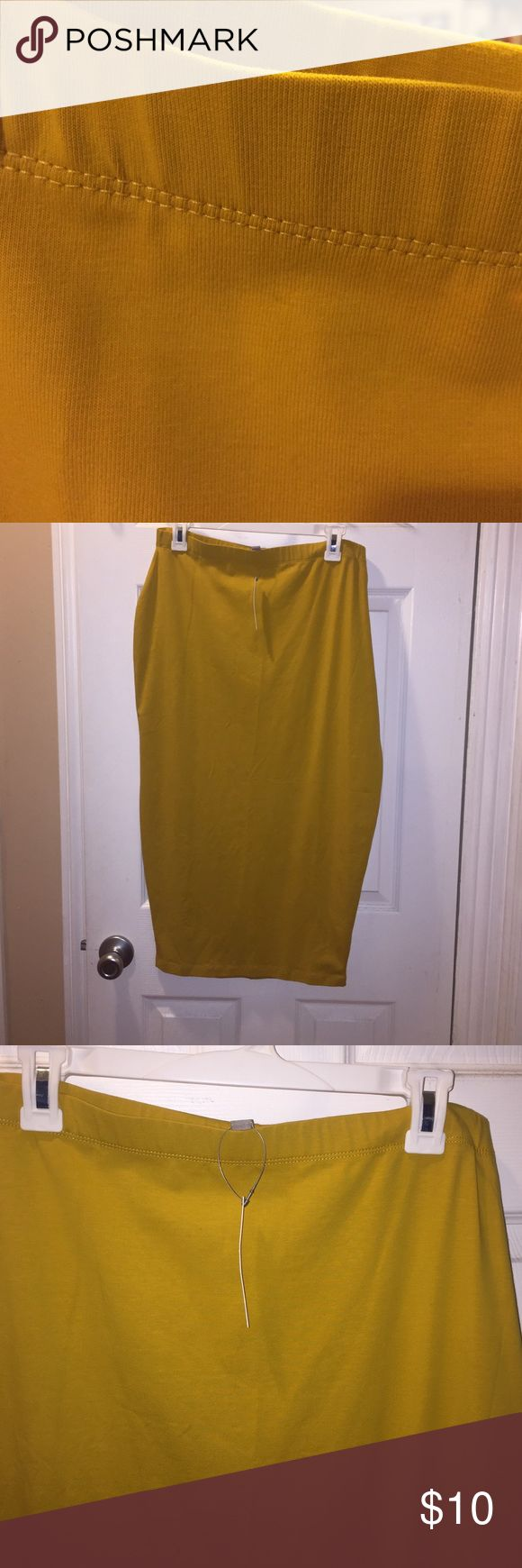 Asos Curve Mustard Pencil Skirt. 14 Great color, firm fit. Never Worn! Second picture depicts true color. ASOS Curve Skirts Pencil