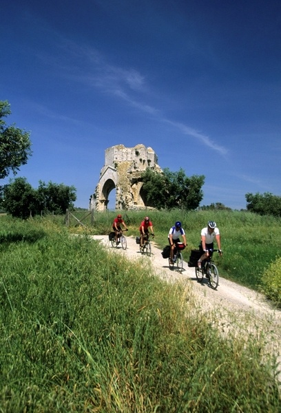 A ride by bike through the Silver Coast, following the natural waving of the hills, discovering the land. Silver Coast, Maremma, Tuscany, Italy