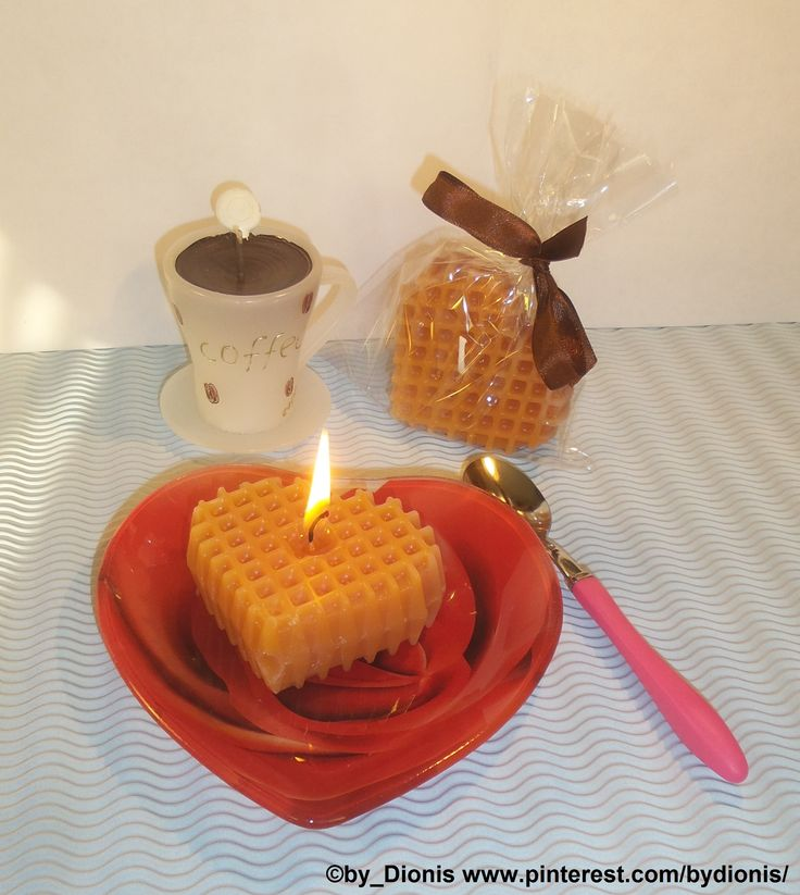 Candles Vienna waffle heart