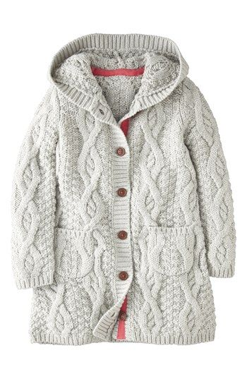 Mini Boden Hooded Cardigan (Toddler Girls, Little Girls & Big Girls) available at #Nordstrom