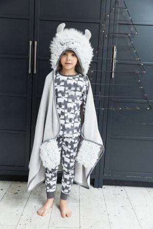 Grey Monster Hooded Blanket (3-16yrs)