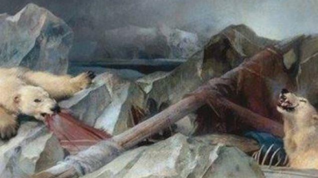 Le tableau Man proposes, God disposes (L'homme propose, Dieu dispose), de l'artiste britannique Edwin Landseer, est une peinture du 19e siècle, montrant deux ours polaires en train de se rassasier des restes de l'expédition Franklin. « La rumeur veut que si vous vous asseyez devant, vous échouiez à vos examens », rappelle Laura MacCulloch, une conservatrice de musée au collège Royal Holloway de l'Université de Londres, où demeure l'œuvre d'art originale.
