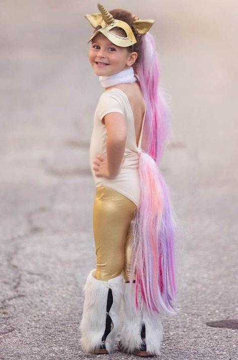 1e265ee23764 Golden Unicorn Costume | Unicorn Costume Ideas For A Magical Halloween # Costumes