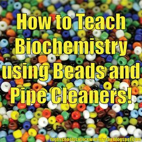 High School Science With Mrs. Lau: Hands-on Biochemistry: Beads, Pipe Cleaners, and the clearest way to teach monomers and polymers!