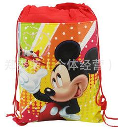 2016 minnie por mayor bolso de lazo del ratón Al por mayor- OP- libre del envío 12Pcs Mickey Mouse & amp ; Bolsas morral del lazo de Minnie dibujos animados escuela de los niños no tejido chicos Bolsa & amp; niñas minnie por mayor bolso de lazo del ratón oferta es