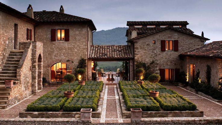 The luxury estate of Castello di Reschio in Umbria, Italy has been restored from secluded ancient farmhouses to contemporary guest houses.