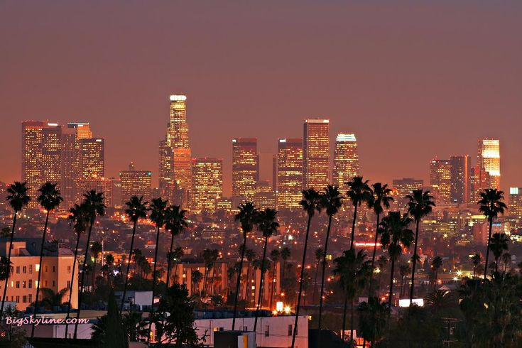 Los Angeles, CA. Population - 15,250,000.  Iconic building - US Bank Tower (center left)