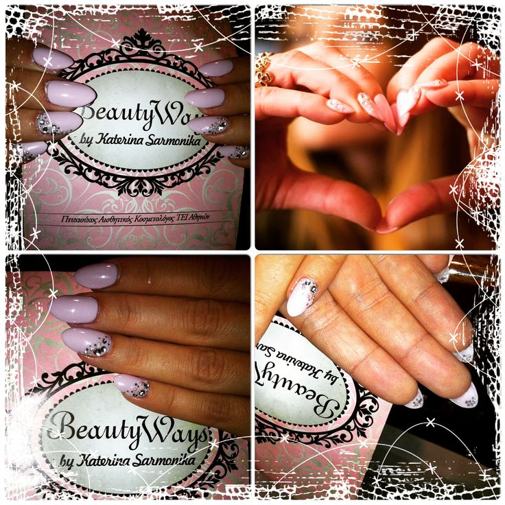 Oval , almond pinky shellac  festive nails!