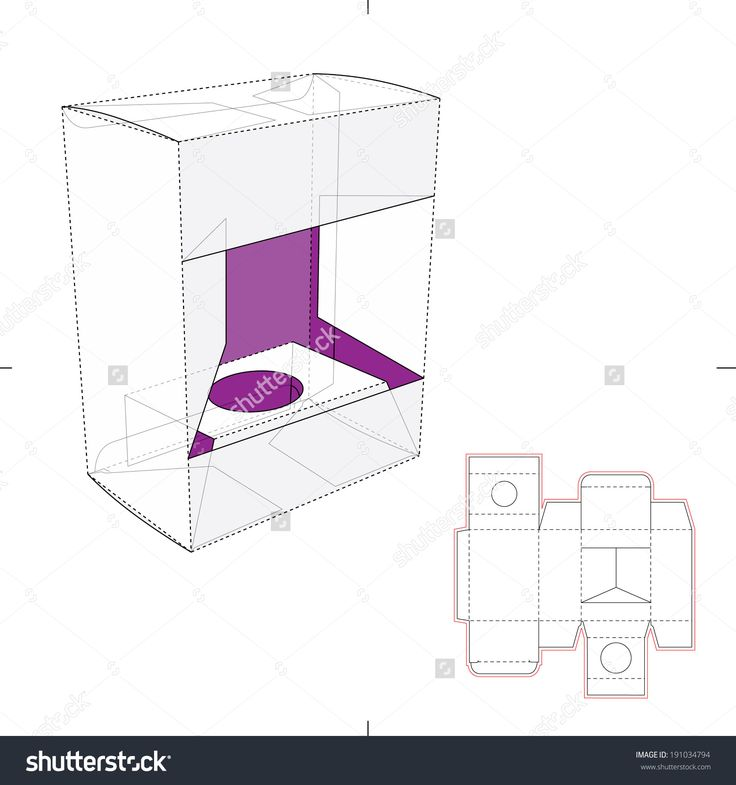 Box Window For Product Display And Die Cut Pattern Stock Vector Illustration 191034794 : Shutterstock