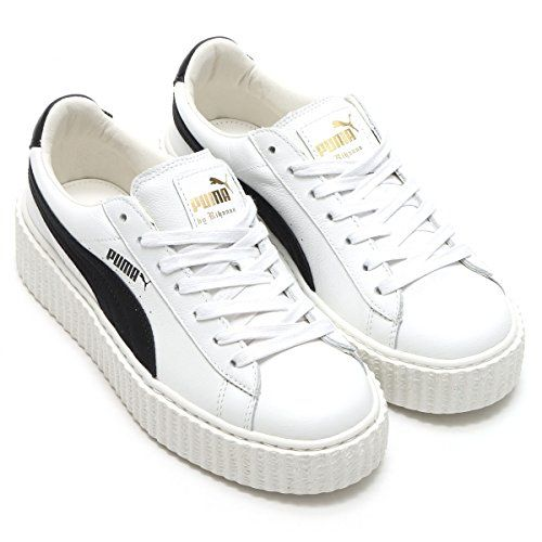Puma x Fenty By Rihanna Women Creeper – Cracked Leather (white)  Part of the Rihanna Collection and collaboration with the FENTY label. Fresh with a touch of punk-rock, get your style up to speed with the chic Creeper. Leather uppers in a classic creeper silhouette. Lace-up closure with a lightly padded …  Read More  http://good-deals-today.com/product/puma-x-fenty-by-rihanna-women-creeper-cracked-leather-white/