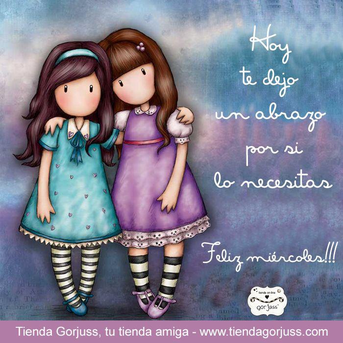 Feliz miércoles a todas!!! Hoy te dejo un abrazo por si lo necesitas.  ☺   #FelizMiércoles #FrasesGorjuss @TiendaGorjuss