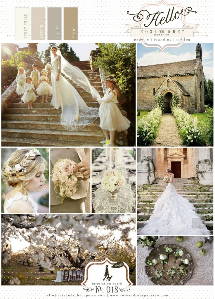 Traditional British country church wedding inspiration.