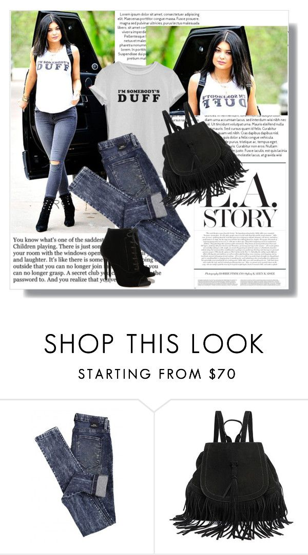 """Celebrity Style - Kylie Jenner"" by lidia-solymosi ❤ liked on Polyvore featuring Dr. Denim and Tabitha Simmons"