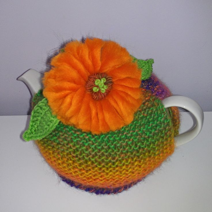 Craft a cure for cancer free tea cosy patterns: Gerbera tea cosy