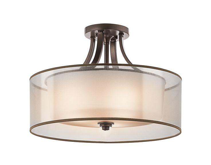 Lacey 4 Light Semi Flush Ceiling Light   MIZ